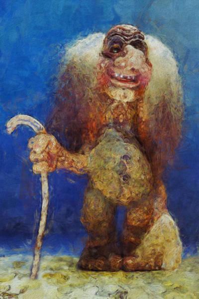 Wall Art - Painting - My Troll by Jack Zulli