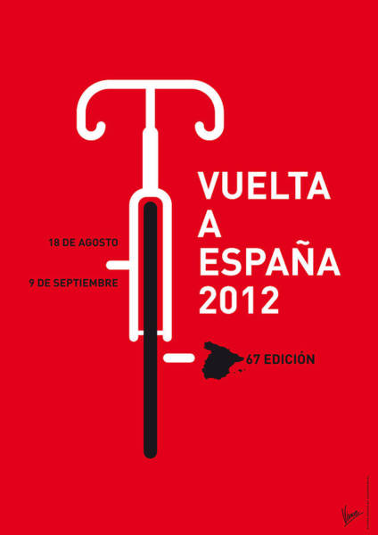 Digital Art - My Vuelta A Espana Minimal Poster by Chungkong Art