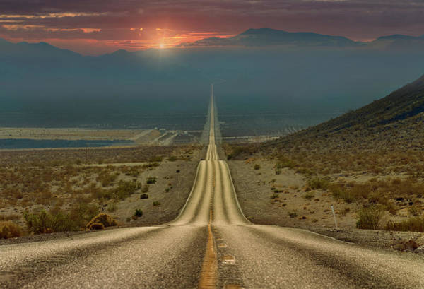 Death Valley Photograph - My Way... by Gennady Shatov
