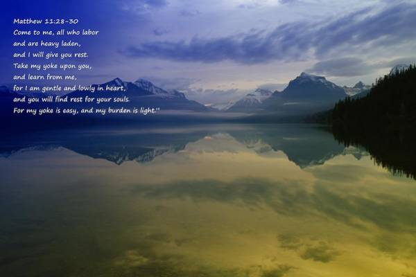 Bible Quotes Photograph - My Yoke Is Easy by Jeff Swan