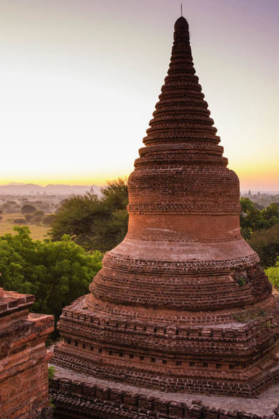 Bagan Photograph - Myanmar Bagan Dawn Over The Plains by Inger Hogstrom