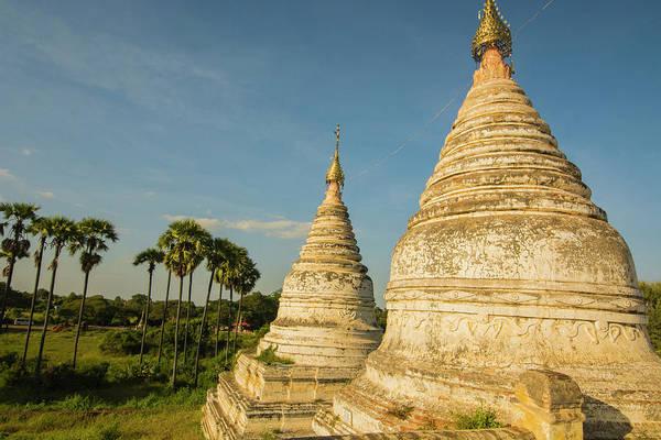 Burma Photograph - Myanmar Bagan Minochantha Stupa Group by Inger Hogstrom