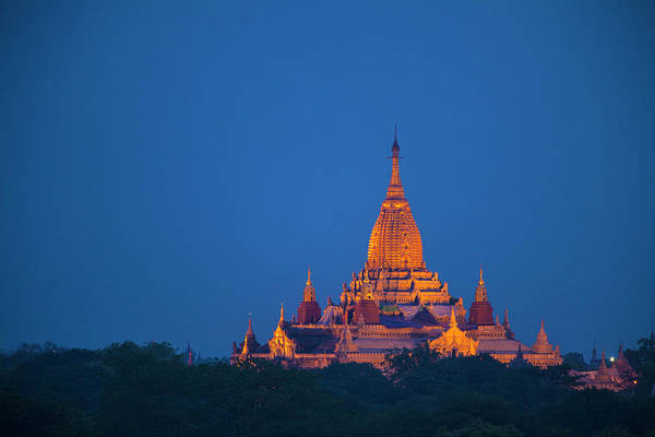Jim Temple Photograph - Myanmar, Bagan Twilight On Ananda by Jaynes Gallery