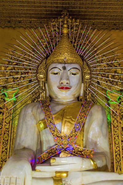 Burma Photograph - Myanmar Mandalay Kyaut Taw Gyi Temple by Inger Hogstrom