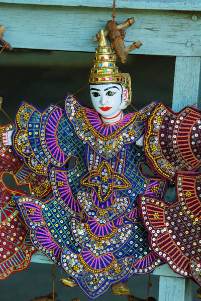 Burma Photograph - Myanmar Mandalay Mingun Puppet For Sale by Inger Hogstrom