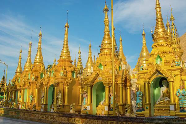Burma Wall Art - Photograph - Myanmar Yangon Shwedagon Pagoda Gold by Inger Hogstrom