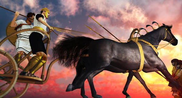 Horse Shoe Digital Art - Mycenaean Assault With Rail Chariot by Leone M Jennarelli