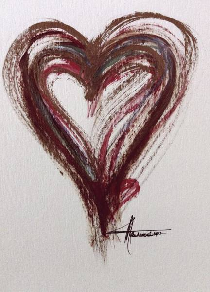 Painting - Myeloma Awareness Heart by Marian Palucci-Lonzetta