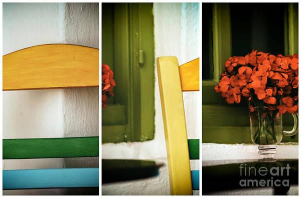 Photograph - Mykonos Color Spectrum Panels by John Rizzuto