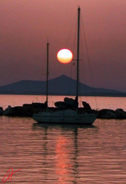 Photograph - Mykonos Island Oceon Sunset Greece  by Colette V Hera  Guggenheim