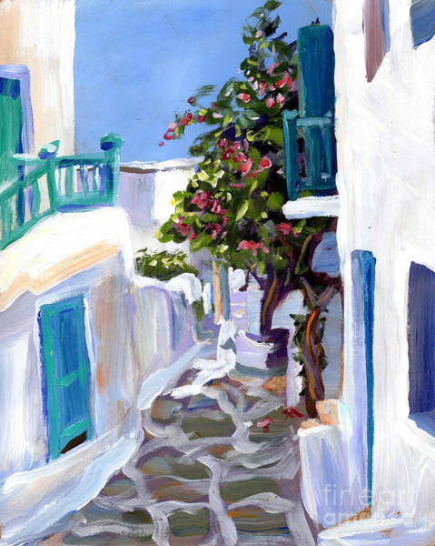 Wall Art - Painting - Mykonos Passages by Valerie Freeman