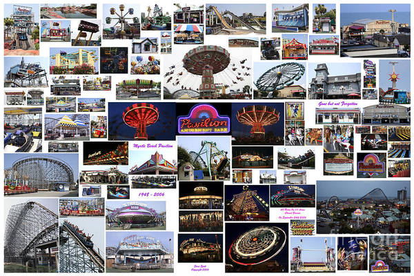 Myrtle Beach Pavilion Collage Art Print