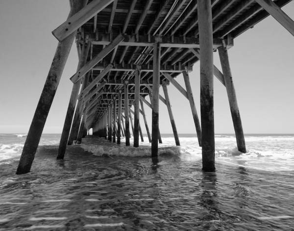 Under The Pier Photograph - Myrtle Beach State Park Pier by Stephanie McDowell