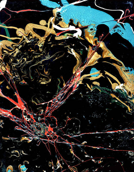 Wall Art - Painting - Mysteries Of The Sea A  Abstract by John Samsen