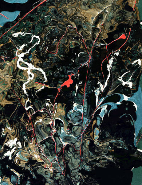 Wall Art - Painting - Mysteries Of The Sea B  Large Abstract by John Samsen