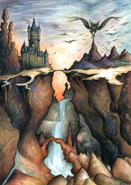 Painting - Mystery Canyon - Fantasy Art Painting by Peter Potter