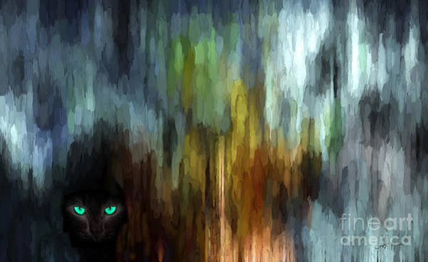 Wall Art - Painting - Mysterious Black Leopard Cat  by Heinz G Mielke