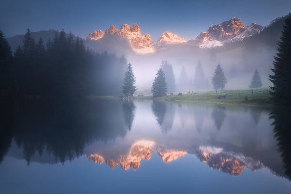 Alp Photograph - Mysterious Morning By The Lake by Daniel ?e?icha