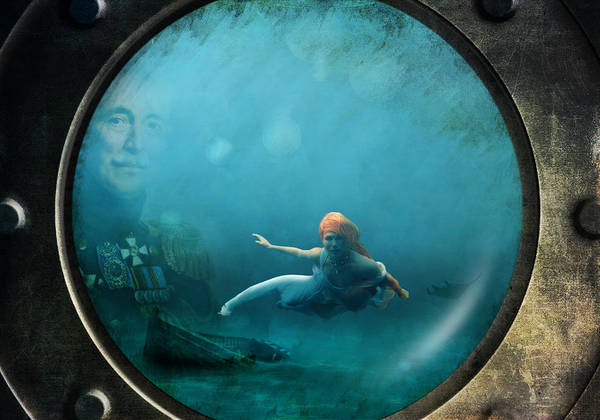 Jules Verne Digital Art - Mysterious World by Astrid Rieger