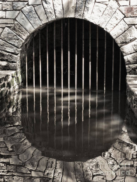 Drainage Photograph - Mystery Gate by Olivier Le Queinec
