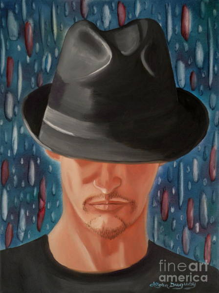 My Son Painting - Mystery Man by Lora Duguay