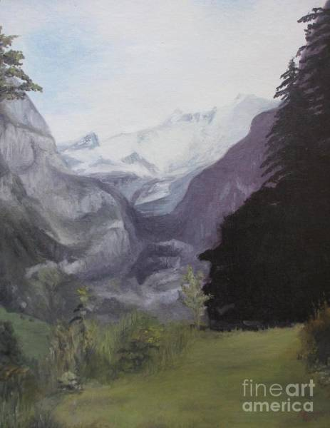 Bavarian Alps Painting - Mystery Mountains by Martin Howard