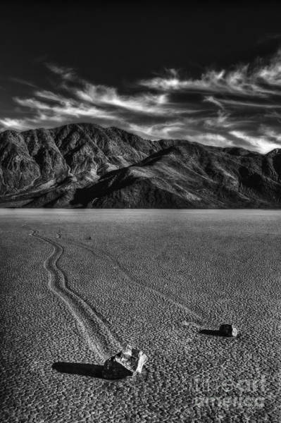 Death Valley Photograph - Mystery Of The Playa by Medicine Tree Studios