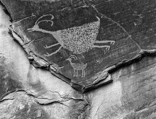 Pictograph Photograph - Mystery Valley Petroglyph Monument by John Ford