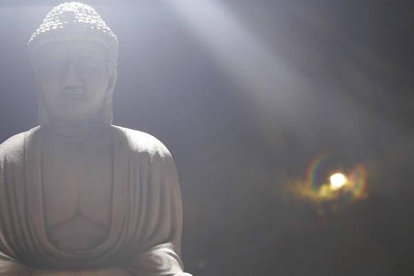 Giant Buddha Photograph - Mystic Buddha by Ian Kennelly