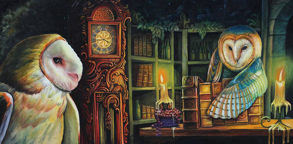 Grandfather Clock Painting - Mystic Evening by Todo Brennan