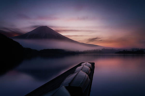 Mounted Photograph - Mystic Fuji by Gerald Macua