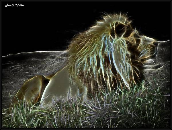 Painting - Mystic Lion At Rest by Jon Volden