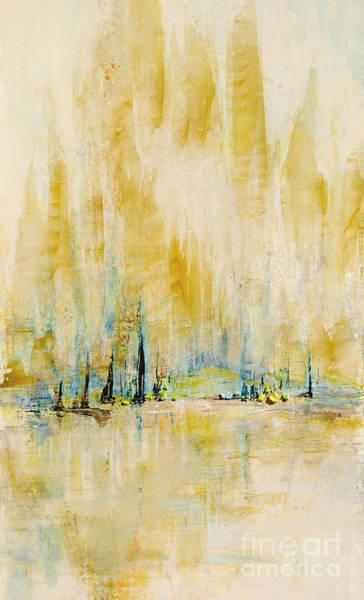 Painting - Mystic Mt Bay by Kaata    Mrachek