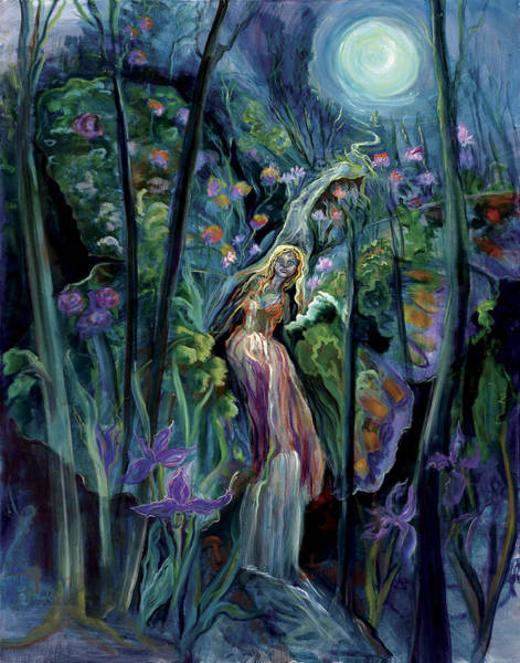 Flagstaff Painting - Mystic Of The Woods by Shari Silvey