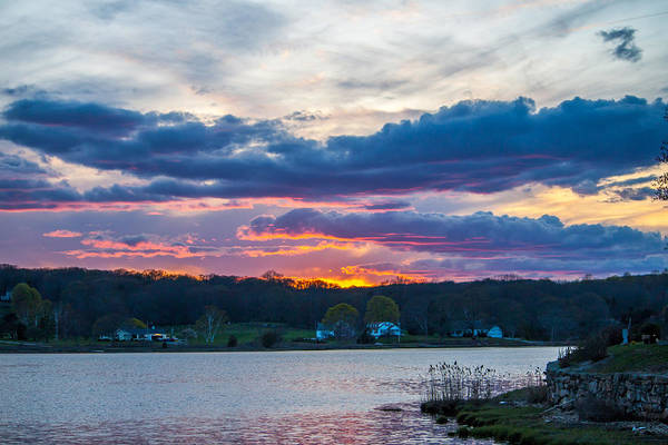Photograph - Mystic River Sunset by Kirkodd Photography Of New England