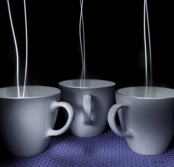 Photograph - Mystic Tea Cups - Light Painting by Steven Milner