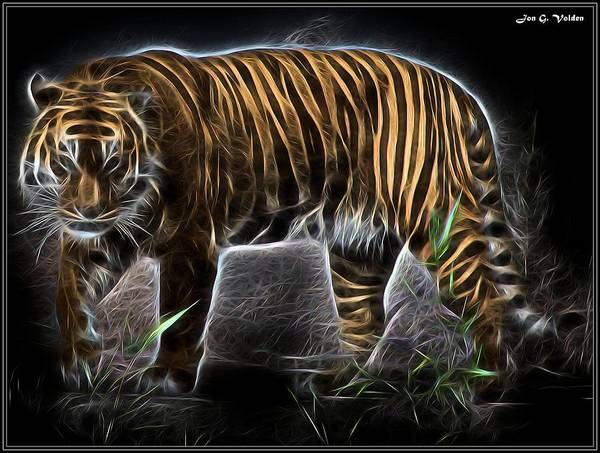Painting - Mystic Tiger by Jon Volden