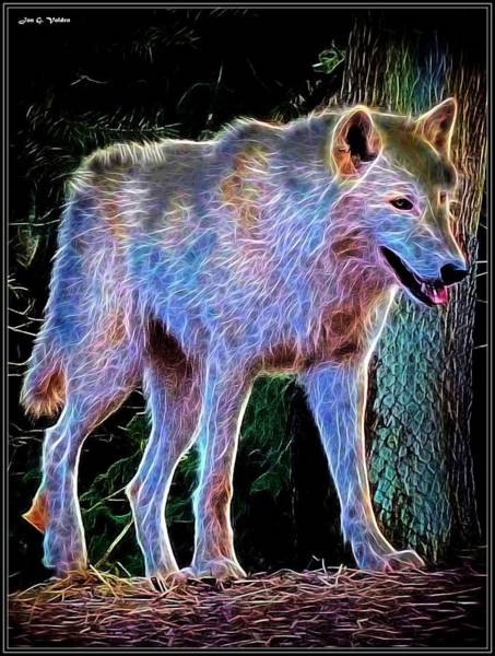 Painting - Mystic Wolf by Jon Volden
