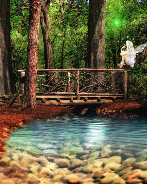 Troll Mixed Media - Mystical Bridge by Donna Kirby
