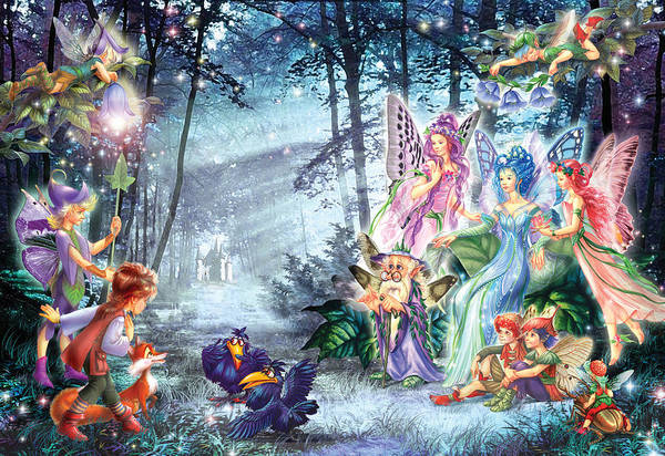 Mystical Meeting  Art Print