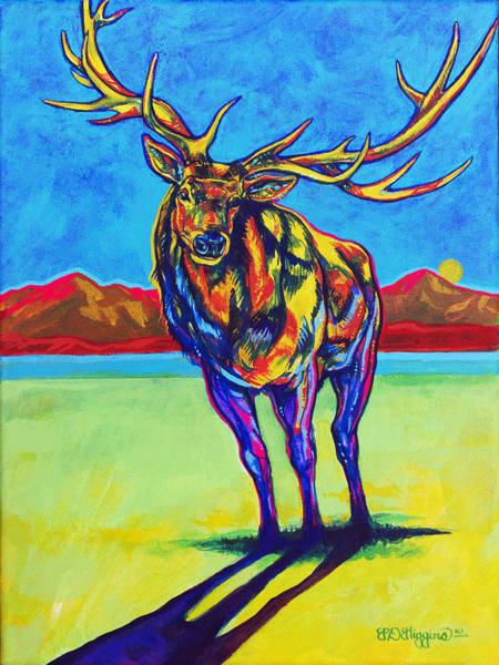 Alpine Meadow Painting - Mythical Elk by Derrick Higgins