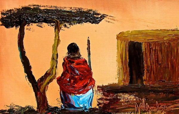 Painting - N 18 by John Ndambo