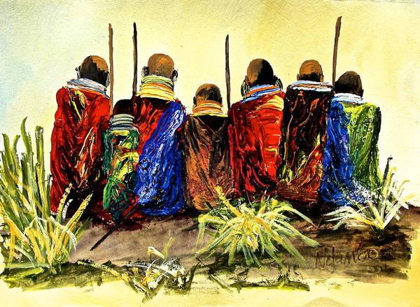 Painting - N 26 by John Ndambo