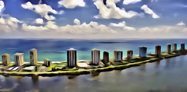 Digital Art - N Ocean Dr by Patrick M Lynch