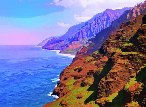 Mixed Media - Na Pali Coast by Dominic Piperata