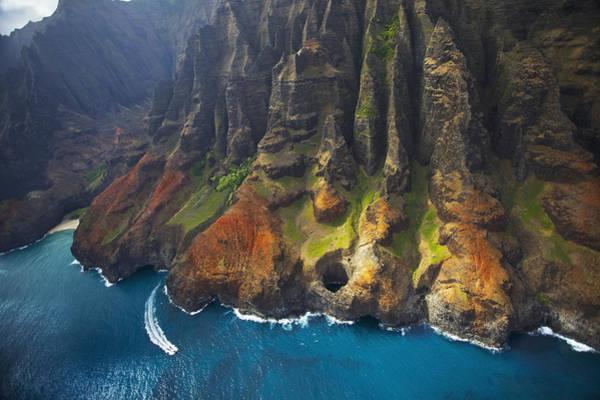 Wall Art - Photograph - Na Pali Coast With Lava Tube by Kicka Witte