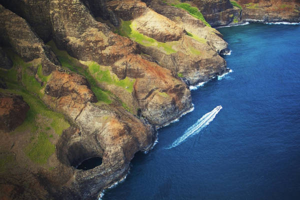 Queens Bath Photograph - Na Pali Ridges And Lava Tube by Kicka Witte