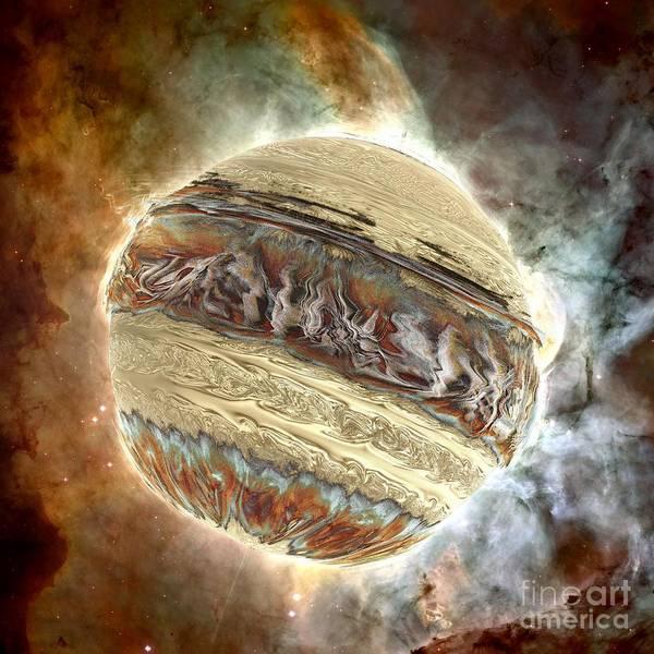 Digital Art - Nacre Planet by Bernard MICHEL