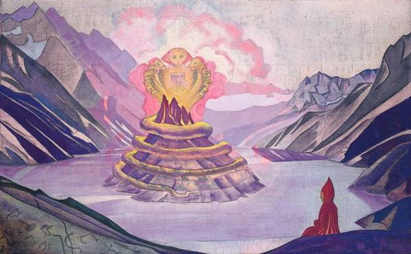 Nk Roerich Painting - Nagarjuna - Conqueror Of The Serpent by Nicholas Roerich