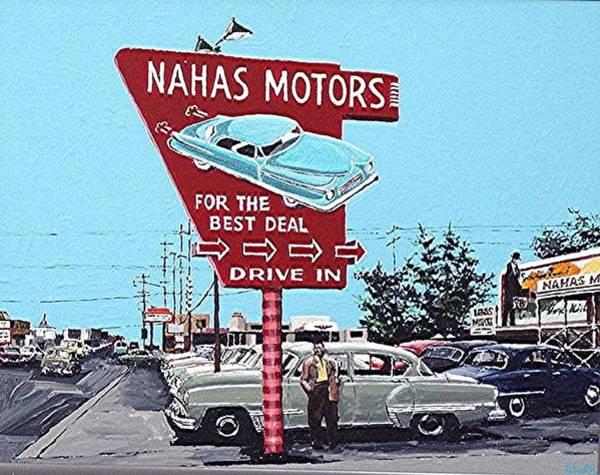Nahas Motors Art Print by Paul Guyer